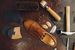 靴を作るイメージ